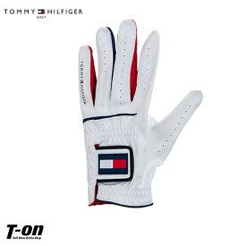 トミー ヒルフィガー ゴルフ TOMMY HILFIGER GOLF 日本正規品 メンズ レディース グローブ 左手用グローブ 片手用グローブ Xサイズ トリコロールカラー ロゴワッペン 2019 春夏 新作 ゴルフ