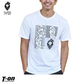 V12 ゴルフ ヴィ・トゥエルブ メンズ Tシャツ 半袖シャツ クルーネックTシャツ ストレッチ イラストデザイン JULIAN T-SHIRT 2019 春夏 ゴルフウェア