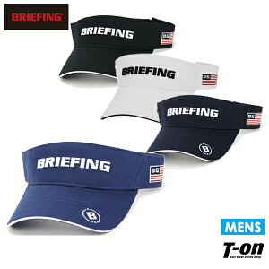 ブリーフィング ゴルフ BRIEFING メンズ サンバイザー ベーシックバイザー ツイルコットン素材 ロゴ刺繍 2021 春夏 新作 ゴルフ