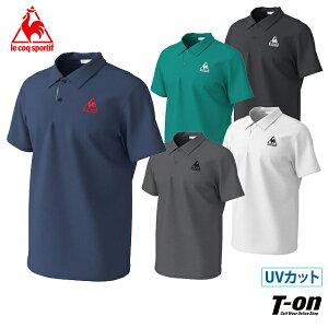ルコックスポルティフ le coq sportf メンズ ポロシャツ 半袖ポロシャツ 襟付き半袖シャツ M〜3Lまでご用意 UVカット ストレッチ ロゴ刺繍 ゴルフウェア