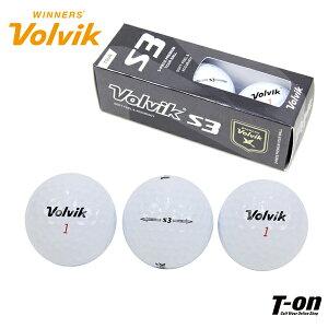 ボルビック Volvik メンズ レディース ゴルフボール 3個セット Volvik S3 中弾道〜高弾道 ヘッドスピード38〜47m/s VU-Xウレタンカバー採用 ゴルフ