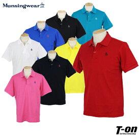 マンシングウェア Munsingwear メンズ ポロシャツ 半袖シャツ 鹿の子ポロシャツ M〜3L One Thing 形状記憶 ロゴ刺繍 【送料無料】 ゴルフウェア