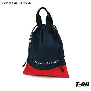 トミー ヒルフィガー ゴルフ TOMMY HILFIGER GOLF 日本正規品 メンズ レディース シューズバッグ シューズケース マルチ巾着 マルチポーチ 巾着仕様 バイカラー ロゴプリント 2021 秋冬 新作 ゴルフ