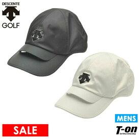 デサントゴルフ デサント DESCENTE GOLF メンズ キャップ ベンチレーション機能 メッシュ裏地付き ロゴ刺繍 微光沢感 2021 春夏 新作 ゴルフ