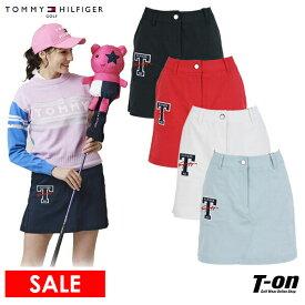 【30%OFF SALE】トミー ヒルフィガー ゴルフ TOMMY HILFIGER GOLF 日本正規品 レディース スカート 後ろ裾プリーツスカート ストレッチ 吸汗速乾 ウエスト一部ゴム入り ロゴアップリケ 2021 春夏 新作 ゴルフウェア