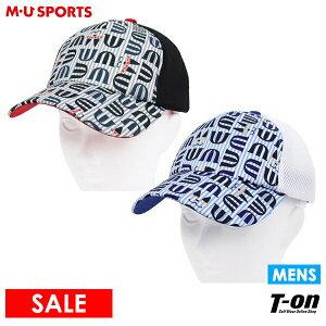 MUスポーツ エムユー スポーツ M.U SPORTS MUSPORTS メンズ キャップ メッシュキャップ コンビキャップ ロゴモノグラム柄 サイズ調節可 2021 春夏 新作 ゴルフ