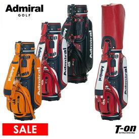 アドミラルゴルフ Admiral Golf 日本正規品 メンズ レディース キャディバッグ ゴルフバッグ 9型 46インチ対応 レザー調素材 配色デザイン 【送料無料】 2021 春夏 新作 ゴルフ
