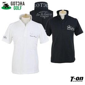 ガッチャ ガッチャゴルフ GOTCHA GOLF メンズ ポロシャツ 半袖 ストレッチ 吸水速乾 メタリック調ロゴプリント M〜3Lまでご用意 2021 春夏 新作 ゴルフウェア