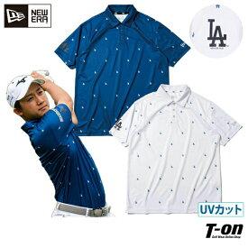 ニューエラ ゴルフ ニューエラ NEW ERA 日本正規品 メンズ ポロシャツ 半袖 ストレッチ 抗菌 吸汗速乾 UVカット 帯電防止 M〜3Lまでご用意 ロサンゼルス・ドジャース テック LAロゴプリント 2021 春夏 新作 ゴルフウェア