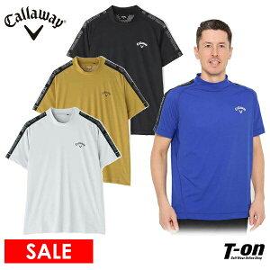 キャロウェイ アパレル キャロウェイ ゴルフ Callaway APPAREL メンズ ハイネックシャツ 半袖 モックネックシャツ スクエアメッシュ素材 涼しい素材 ロゴプリント 3Lまでご用意 2021 春夏 新作 ゴ