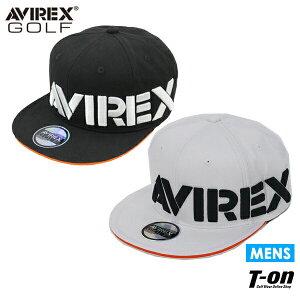 アヴィレックス ゴルフ AVIREX GOLF メンズ キャップ フラットバイザー 平つば ロゴ刺繍 2021 春夏 新作 ゴルフ