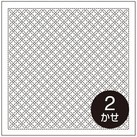 .オリムパス 刺し子 花ふきん 布パック チェック 一目刺し 白 H-1073 刺しゅう 伝統的 刺繍 技法