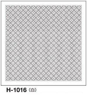 オリムパス製絲 刺し子 花ふきん布パック 十字花刺し 一目刺し 白 伝統柄 H-1016
