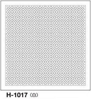 クーポン配布中! オリムパス製絲 刺し子 花ふきん 布パック 柿の花 一目刺し 白 伝統柄 H-1017