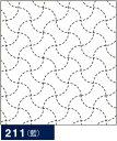 .オリムパス製絲 刺し子 花ふきん 布パック 分銅 ( ぶんどう )つなぎ 藍 伝統柄 211 刺しゅう 伝統的 刺繍 技法