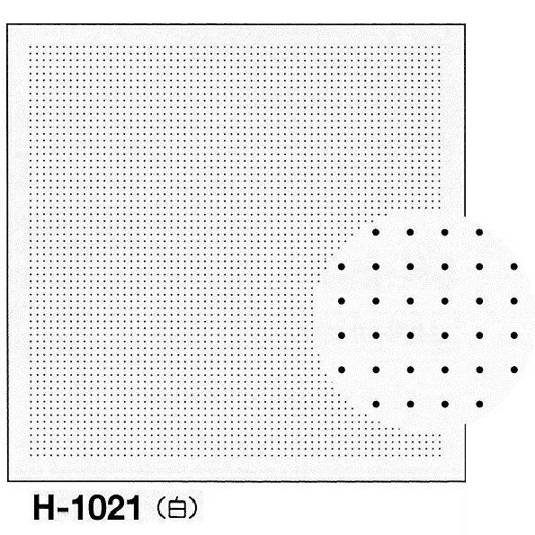 オリムパス製絲 刺し子 花ふきん布パック 一目刺し用ガイド付き さらしもめん 白 H-1021