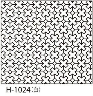 オリムパス製絲 刺し子 花ふきん布パック クロスつなぎ 一目刺し 白 伝統柄 H-1024