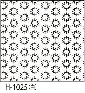 オリムパス製絲 刺し子 花ふきん布パック こんぺいとう 一目刺し 白 伝統柄 H-1025