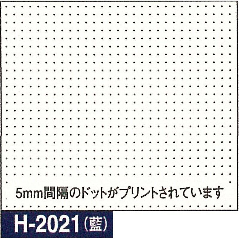 オリムパス製絲 刺し子 花ふきん布パック 一目刺し用ガイド付き さらしもめん 藍 H-2021