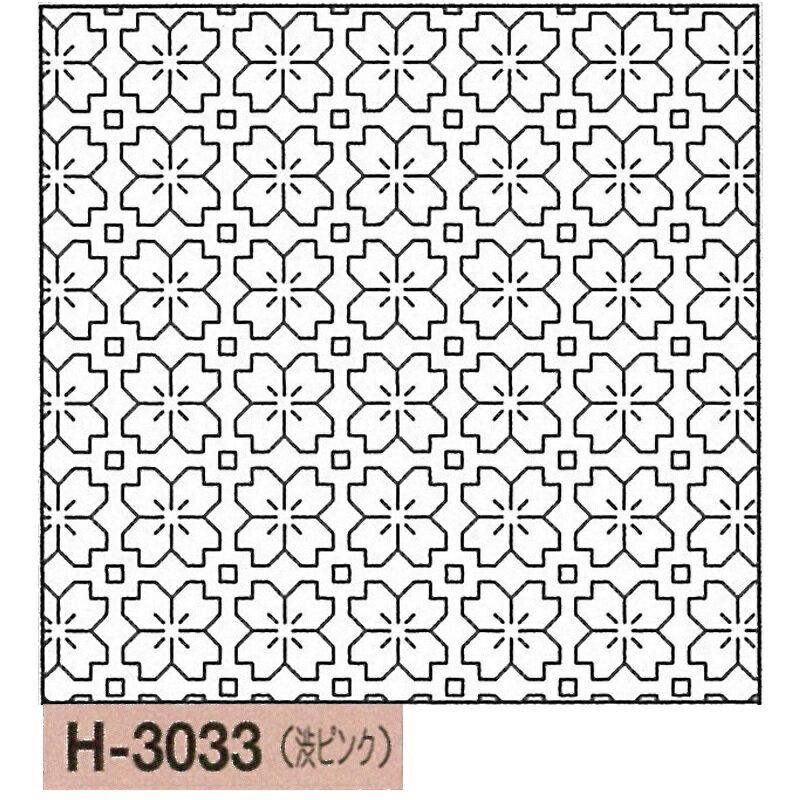 新色! オリムパス製絲 刺し子 花ふきん 布パック 桜の花 一目刺し 渋ピンク 伝統柄 H-3033