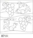 【クーポン配布中】.オリムパス 刺し子 花ふきん 布パック ぶどうとリス 白 和柄 87 刺しゅう 伝統的 刺繍 技法