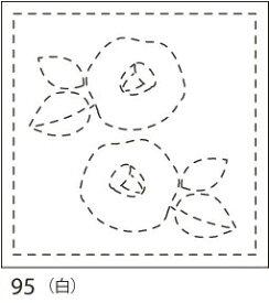 【クーポン配布中】.オリムパス製絲 刺し子 花ふきん 布パック 椿(つばき) 白 みんなできちゃうシリーズ 和柄 95