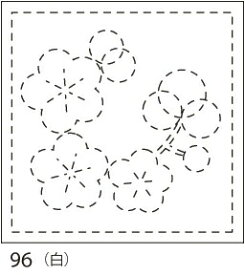 【クーポン配布中】.オリムパス 刺し子 花ふきん 布パック 梅(うめ) 白 みんなできちゃうシリーズ 和柄 96
