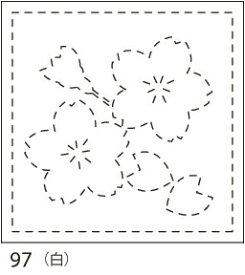 【クーポン配布中】.オリムパス製絲 刺し子 花ふきん 布パック 桜(さくら) 白 みんなできちゃうシリーズ 和柄 97