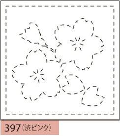 【クーポン配布中】.オリムパス製絲 刺し子 花ふきん 布パック 桜(さくら) 渋ピンク みんなできちゃうシリーズ 和柄 397