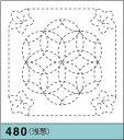 オリムパス製絲 刺し子 花ふきん布パック 桔梗と花刺し(ききょうとはなざし) 浅葱 和柄 480