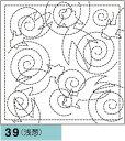 オリムパス製絲 刺し子 花ふきん布パック 納涼(のうりょう)きんぎょ 浅葱 和柄 39
