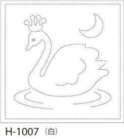 【クーポン配布中】.オリムパス 刺し子 花ふきん 布パック スワン 白 みんなできちゃうシリーズ オリジナル柄 H-1007