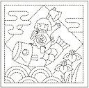 .オリムパス 刺し子 花ふきん 布パック 端午の節句 白 オリジナル柄 H-1026 刺しゅう 伝統的 刺繍 技法