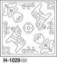 オリムパス製絲 刺し子 花ふきん布パック 北欧モチーフ ダーラナホース 白 オリジナル柄 H-1029