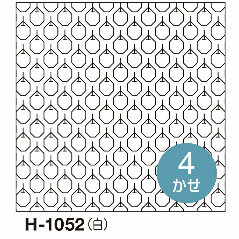 新柄!オリムパス製絲 刺し子 花ふきん 布パック りんご 一目刺し 白 オリジナル柄 H-1052