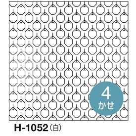 .オリムパス 刺し子 花ふきん 布パック りんご 一目刺し 白 H-1052 刺しゅう 伝統的 刺繍 技法