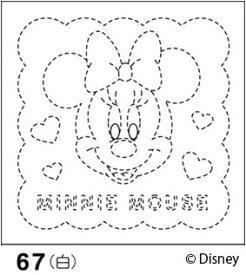 .オリムパス 刺し子 花ふきん 布パック ミニーマウス 白 ディズニー柄 67 刺しゅう 伝統的 刺繍 技法