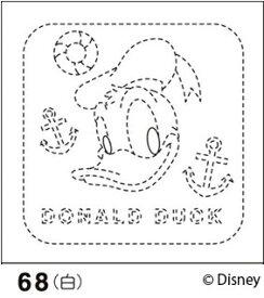 .オリムパス 刺し子 花ふきん 布パック ドナルドダック 白 ディズニー柄 68 刺しゅう 伝統的 刺繍 技法