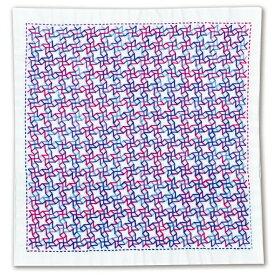 【10/30(金)限定クーポン配布中】.オリムパス 刺し子 キット 一目刺しの花ふきん ( 白 ) 風車 SK-358 刺しゅう 伝統的 刺繍 技法