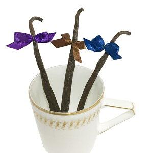 バニラビーンズ 5本&リボン3個【最短発送】【最高級グレード】【Vanilla Beans grown in Uganda】【格安】【バニラビーンズ鞘】【バニラビーンズサヤ】
