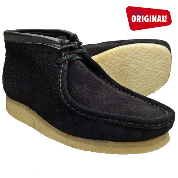 クラークス ワラビーブーツ ブラックスエード CLARKS WALLABEE BOOT 35409 BLACK SUEDE ≪USA直輸入・正規品≫ メンズ ブーツ クラークス