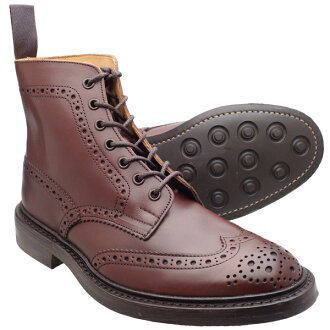 torikkazukantoributsudainaitosorubagandi Tricker's M2508 MALTON(Burgundy Burnished)◆MADE IN ENGLAND◆UK规格