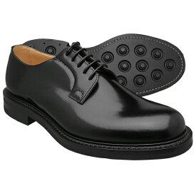Church's チャーチ シャノン ブラック ポリッシュドバインダーカーフ ラバーソール SHANNON R(Rubber sole) BLACK POLISHED BINDER CALF BLACK メンズ 革靴 プレーントゥ