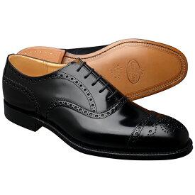 Church's チャーチ DIPLOMAT ディプロマット BLACK ブラック POLISHED BINDER CALF ポリッシュドバインダーカーフ レザーソール メンズ 革靴 セミブローグ