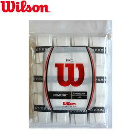 ウィルソン(Wilson)プロオーバーグリップ(12本セット ホワイト)PRO OVERGRIP(WRZ4022)[M便 1/1](グリップテープ テニスグリップ グリップ テープ テニスラケット オーバーグリップ 滑り止め ソフトテニス テニスラケットグリップテープ テニス テニス用品)