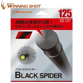 ウィニングショット(WinningShot)ブラックスパイダー(1.25/1.30mm)[ブラック]BLACK SPIDER[M便 1/2]-bksp-(硬式テニス ガット ストリングス ナイロン マルチ ソフト テニスガット 硬式テニスガット 張り替え 硬式ガット テニス テニス用品) 05P03Dec16