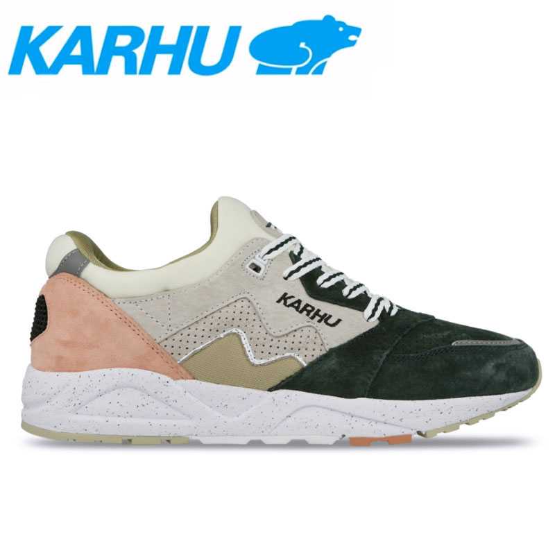 KARHU(カルフ)スニーカー レディース メンズ アリア シューズ 靴 ユニセックス 男女兼用 スウェード/メッシュシルバーバーチ/ブルーコーラル kh803031