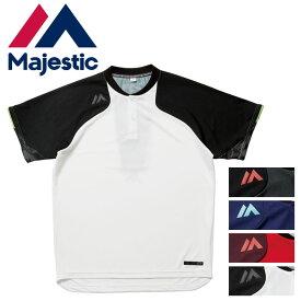 Majestic(マジェスティック)オーセンティック テック2ボタン トレーニングSS Tシャツ スポーツウェア トレーニングウェア 野球 ベースボール 練習着 XM01MAJ006 17SS