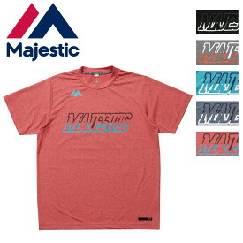 Majestic(マジェスティック)半袖Tシャツ スポーツウェア トレーニングウェア Authentic Tech Branding SS Tee type-2 XM01MAJ008 17SS