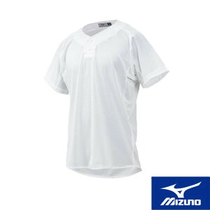 MIZUNO(ミズノ) 練習用シャツ(セミハーフボタンタイプ)[ユニセックス] 野球用 スポーツウェア トレーニングウェア ユニフォームシャツ ベースボール 名入れ可能 12jc8f6901